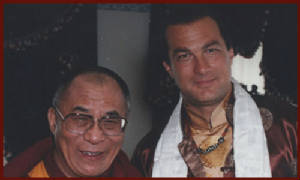 H.H.Dalai Lama & Steven Seagal-Washington DC.1996