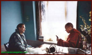 During a private visit to the Dalai-Lama (1996)
